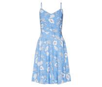 Kleid 'cami' hellblau / weiß