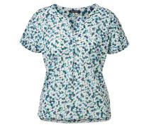 T-Shirt blau / hellblau / weiß