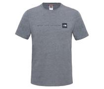 T-Shirt 'Nse' graumeliert / schwarz