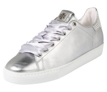 Sneaker 'Metallic' silbergrau