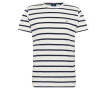 T-Shirt 'breton Stripe SS' schwarz / weiß