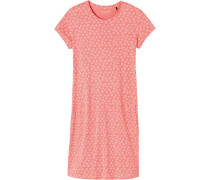 Nachthemd koralle / weiß
