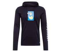 Sweatshirt neonblau / schwarz
