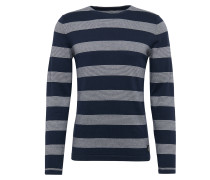 Feinstrickpullover 'different stripe crewneck knit'