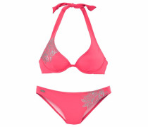Bügel-Bikini neonorange / silber