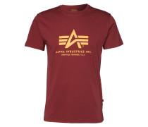 Print-Shirt burgunder