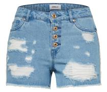 Shorts 'onlPACY HW RAW Edge DNM ' blue denim