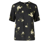 Blumiges Anemonen-T-Shirt ecru / pastellgrün