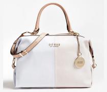 Handtasche 'Cary' rosa / weiß