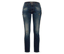 Jeans blue denim / gelb / gold