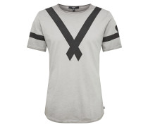 Shirt 'Damba' grau / schwarz