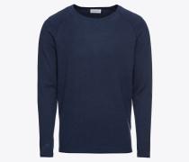 Pullover 'high twist raglan' dunkelblau