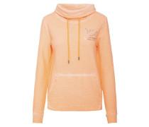 Sweatshirt apricot / schwarz