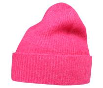 Strickmütze 'Josefine' mit Wolle pink