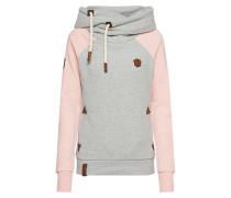 Sweatshirt graumeliert / rosa