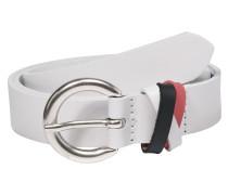 Ledergürtel 'Multi loop' navy / weiß