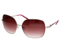 Sonnenbrille dunkelrot / silber
