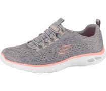 Sneaker graumeliert / pfirsich