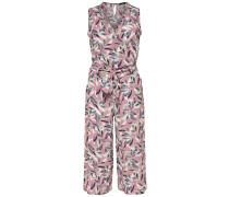 Print Jumpsuit grün / rosa