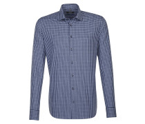 City-Hemd ' Tailored ' dunkelblau