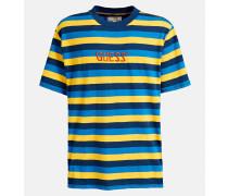 T-Shirt blau / dunkelgelb