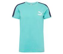 T-Shirt 'Iconic T7' navy / türkis / weiß