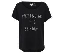 T-Shirt 'sunday' schwarz