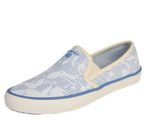 Slipper 'New Haven' creme / hellblau