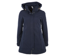Mantel mit Kapuze 'teza' dunkelblau