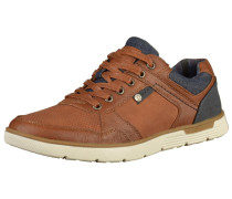 Sneaker navy / cognac