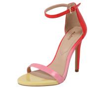 Sandale 'caraa' gelb / pink / rot