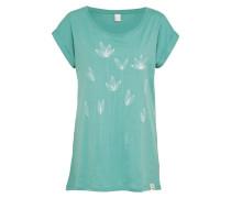 T-Shirt 'La Fleur' mint