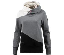 Damen Sweatshirt grau / schwarz / weiß