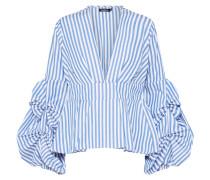 Bluse mit Puffärmeln blau