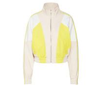 Jacke 'botton' gelb / weiß