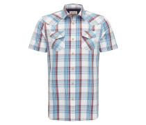 Hemd blau / rot / weiß