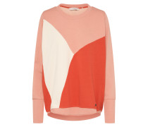 Sweatshirt 'Amnicola' orange / rosa / weiß