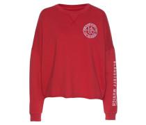 Sweatshirt 'Smila' rot / weiß