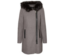 Mantel Woll Winter grau
