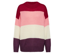 Pullover 'Ulani' pink / rot / weiß
