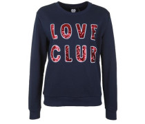 Sweatshirt 'love Club' nachtblau
