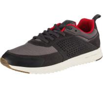 Sneakers Low grau / hellrot / schwarz