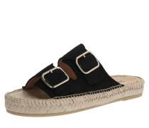 Sandale 'Claquette' schwarz