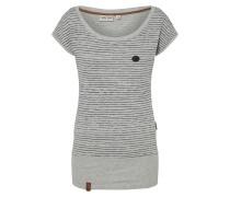 Shirt 'Wolle Dizzy' graumeliert / schwarz