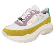 Sneaker 'Baisley' limette / lila / weiß