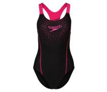 Badeanzug schwarz / pink