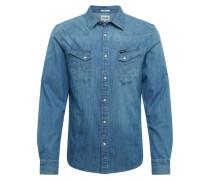 Hemd 'LS Western Shirt' blue denim