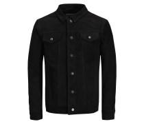 Leder Jacke schwarz