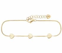 Armband 'Herzen' gold