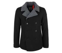Mantel graumeliert / schwarz
